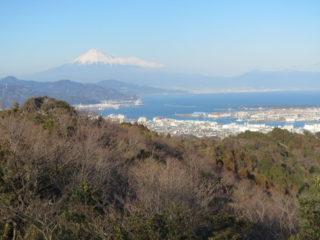 日本平からの富士山と愛鷹山
