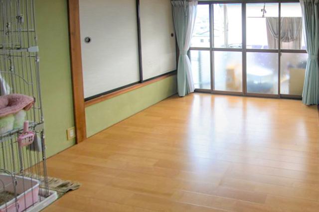 フローリングへ床の張替え施工後